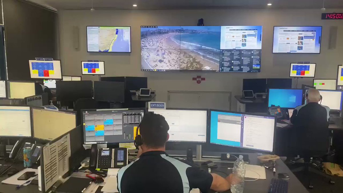#AUSTRALIADAY2021 // #Live from the SLSNSW State Operations Centre where the team has reported 230pm stats:   🏊♂️ 110 rescues  🚨 42 emergency incidents ☀️ 163k + beach attendance   #nsw #beach #AustraliaDay