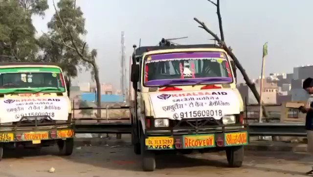 Farmers Protest: Tractor Parade   Our Khalsa Aid India team is on standby for any emergency!   #TractorParade #TractorParadeOn26Jan #Delhi