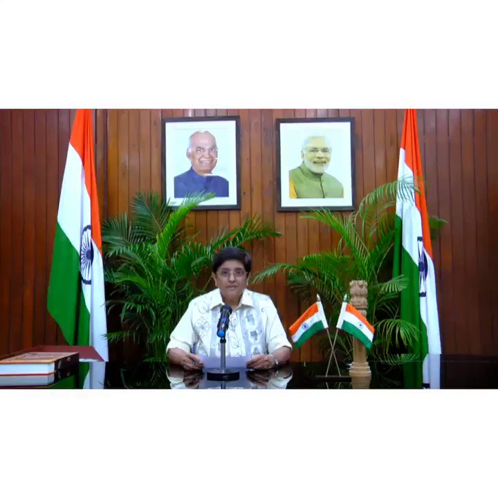 Speech of HLG @thekiranbedi on the occasion of 72nd #RepublicDay of India. 1/2 @PTI_News @PIB_India @DDNewslive @airnewsalerts @ddkpondy @airnews_puduvai @PBNS_India
