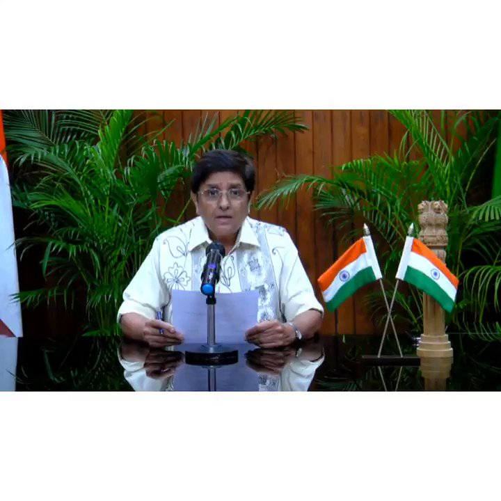 Speech of HLG @thekiranbedi on the occasion of 72nd #RepublicDay of India. 2/2