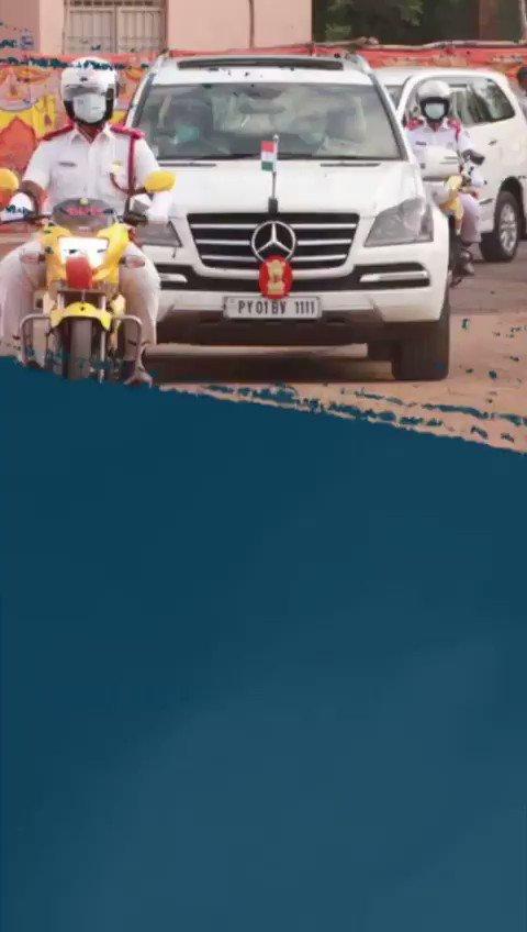 Replying to @thekiranbedi: #RepublicDayIndia in Puducherry