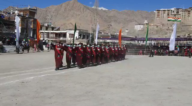 Ex Servicemen of #Ladakh Scout Regiment participated in #RepublicDay function held at Polo Ground in Leh, Ladakh. #RepublicDay2021 #RDayWithAIR  #AIRVideo: Yangchan Dolma