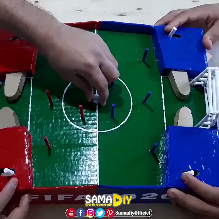 How to make a cardboard 📦 soccer ⚽️ game 🎮 at home 🏨 ▶️ Full video on Youtube:  ▶️ Full video on Youtube:   #crafts #craft #DIY #diys #gardening #garden #flowerpot #vase #howtomake #Flowers #Nature
