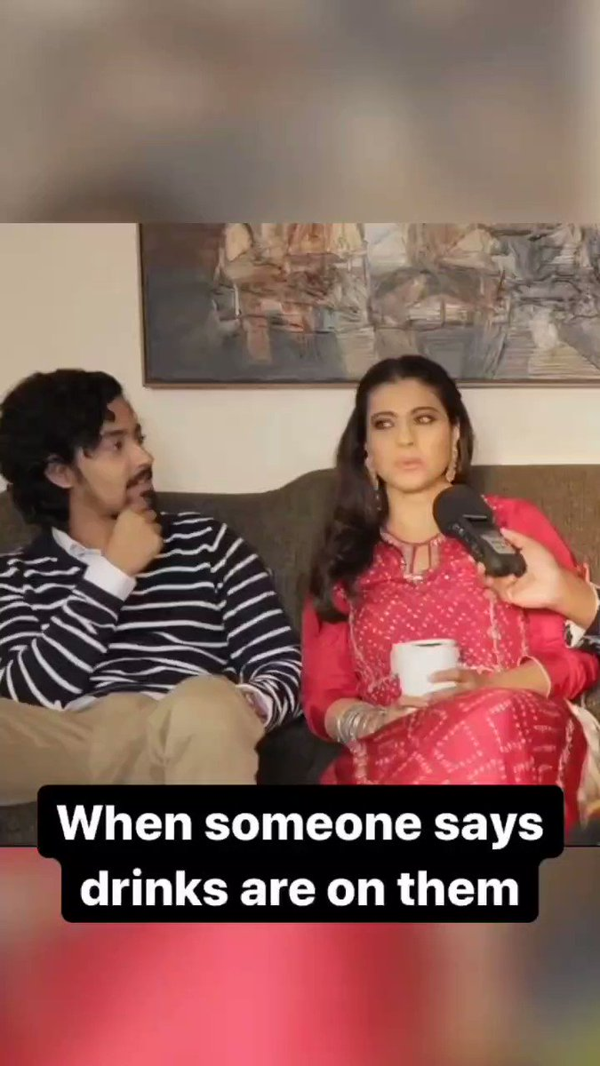 When someone says drinks are on them  Ft. @itsKajolD   #Sidk #SiddharthKannan #memes #funnymemes #funnyvideos #videos #comedy #kajoldevgan