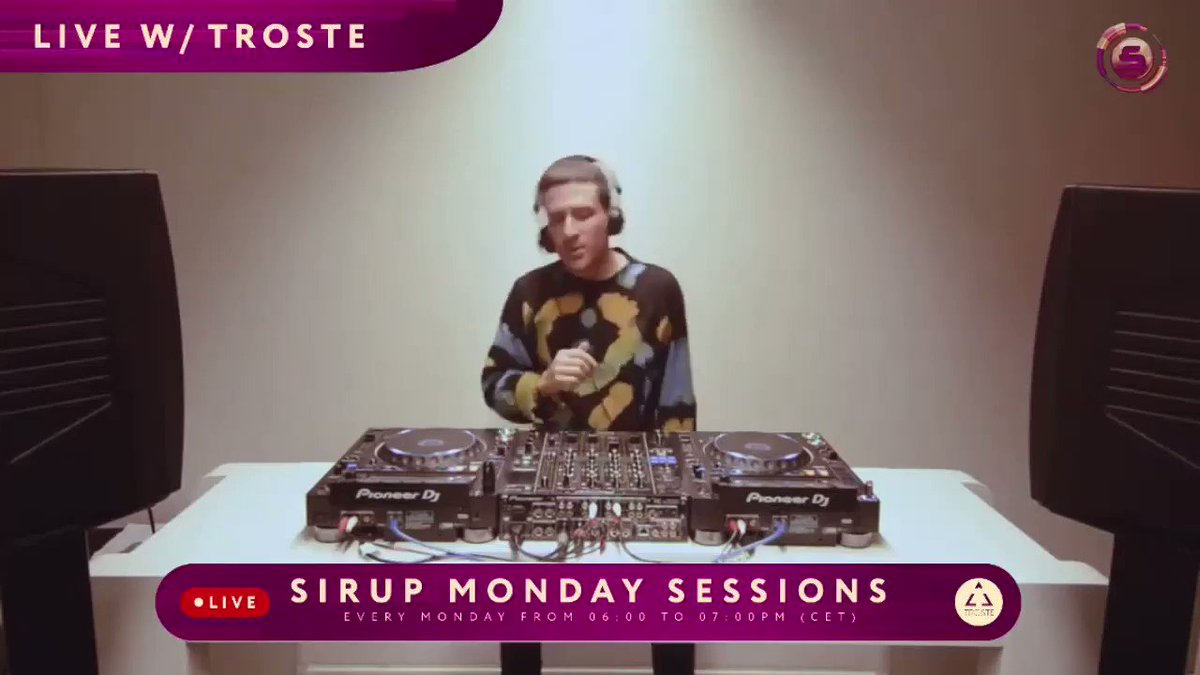 Missed this week's Livestream with Troste? 📺🤩⁠⠀  Check out the complete set here:   ⁠ #sirupmusic #mondaysessions #live #stream #streamer #facebooklive #music #dj #artist #youtube #livestreaming #socialmedia #zurich #switzerland