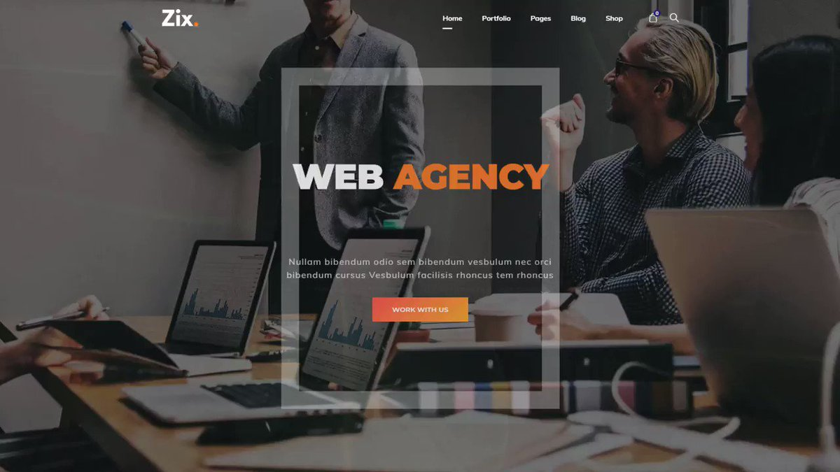 Zix - Digital Agency & Multipurpose WordPress Theme   Live Preview -   WordPress Theme for: ◾Individuals ◾Professionals ◾Agencies  #webstagram #webdesign #website #web #webdesigner #webdevelopment #webdeveloper #websitedesign #webComic #websites