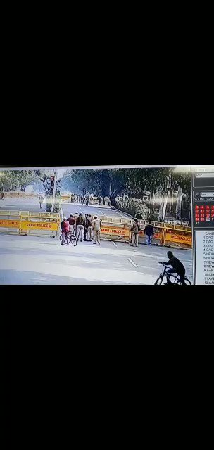 CCTV Video released by Delhi Police showing Tractor Ramming into Barricades   Shame on Vultures Fuelling the Situation