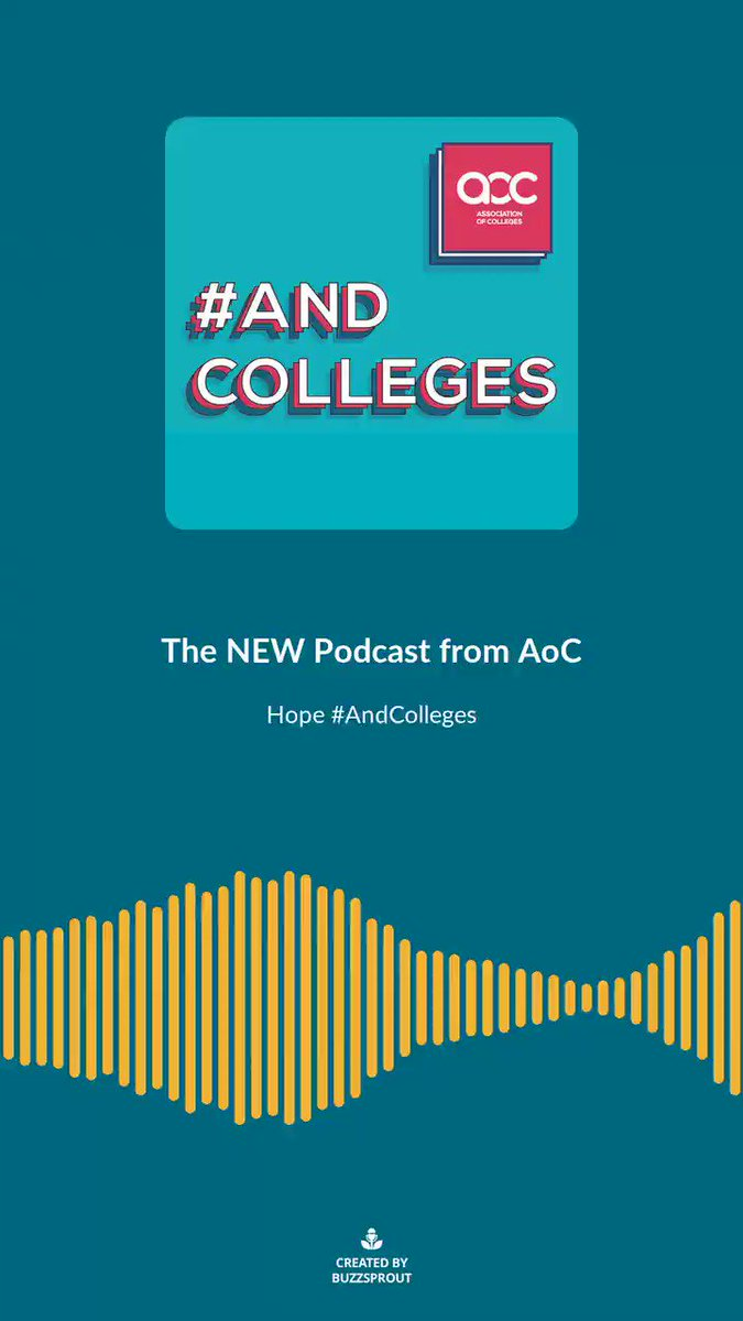 """""""An amazing org that's done lots of work on youth social action and getting the voice of young people out there"""" - @CatherineSezen discusses the importance of AoC's relationship with  the @iwill_campaign in #AndColleges, our new podcast series. #iwill"""