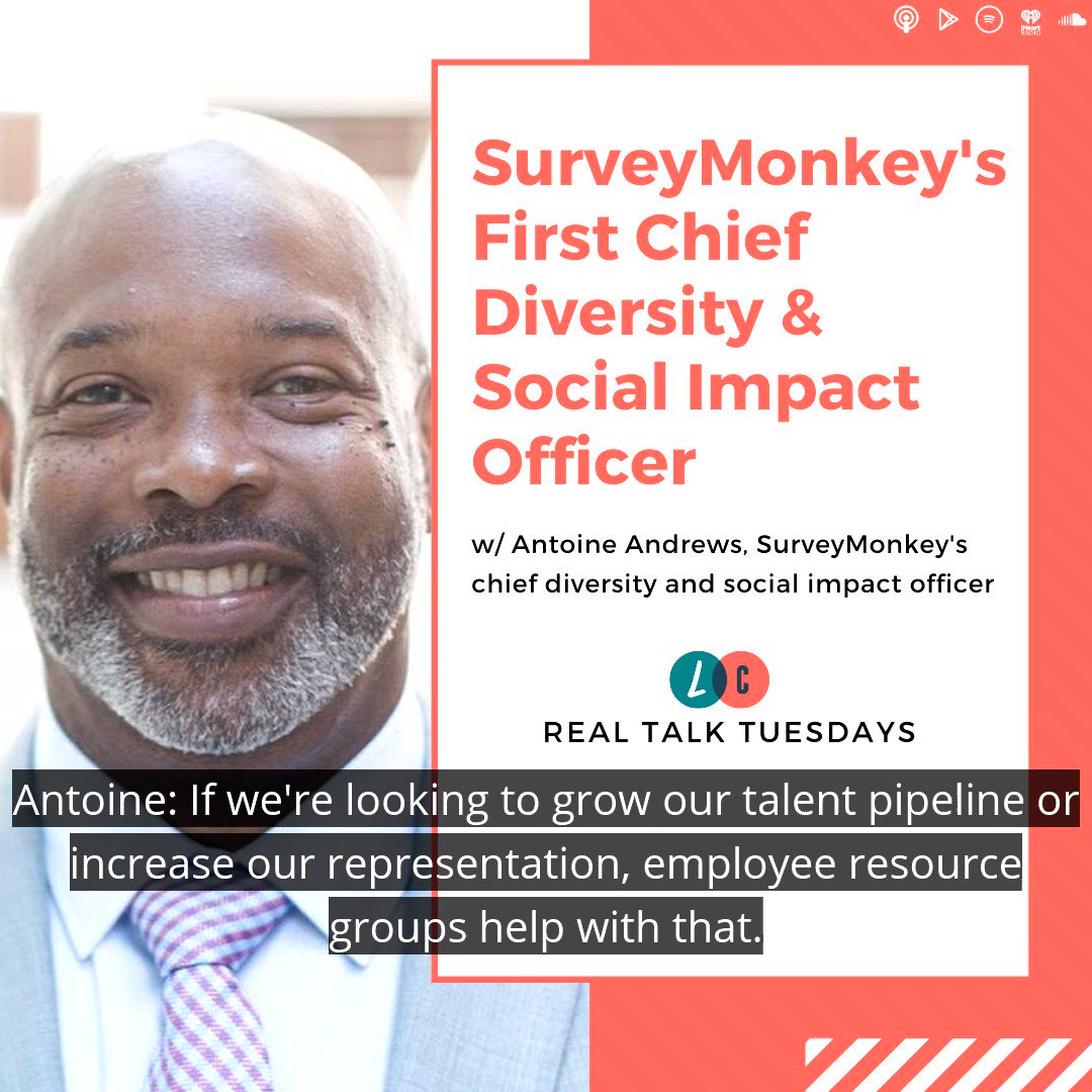 Zach chats with @SurveyMonkey's newly-hired chief #diversity & #social #impact officer @dblAfromNJ on today's show. Listen to the full show by clicking the link in our bio or following this URL:  #DEI #inclusion #equity #career #business #leadership