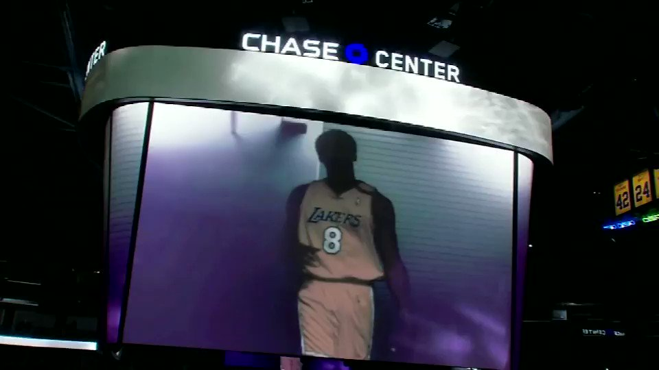 REMEMBERING KOBE -- This @kobebryant tribute video played last February at @ChaseCenter ahead of a @Lakers vs @warriors game and still give me chills. RIP to the 9 souls that passed on that fateful day. #ABC7Now #DubNation #LakeShow #RIPKobe