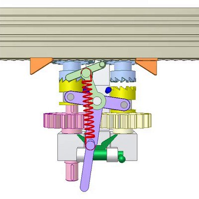 Gear-Rack Drive for Auto Reversing Linear Motion