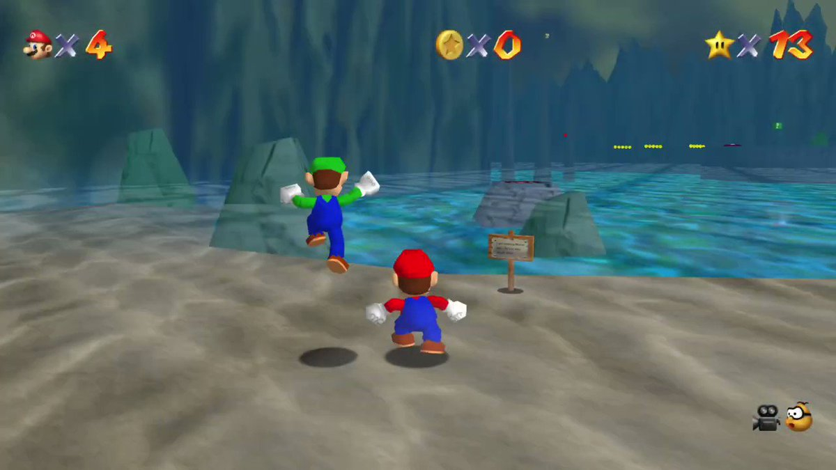 It's the #UltimatePlay of Super Mario 64📺 All we do is Win! #tuesdayvibe Now with 60% more Cheating! #N64 #Nintendo #retrogames