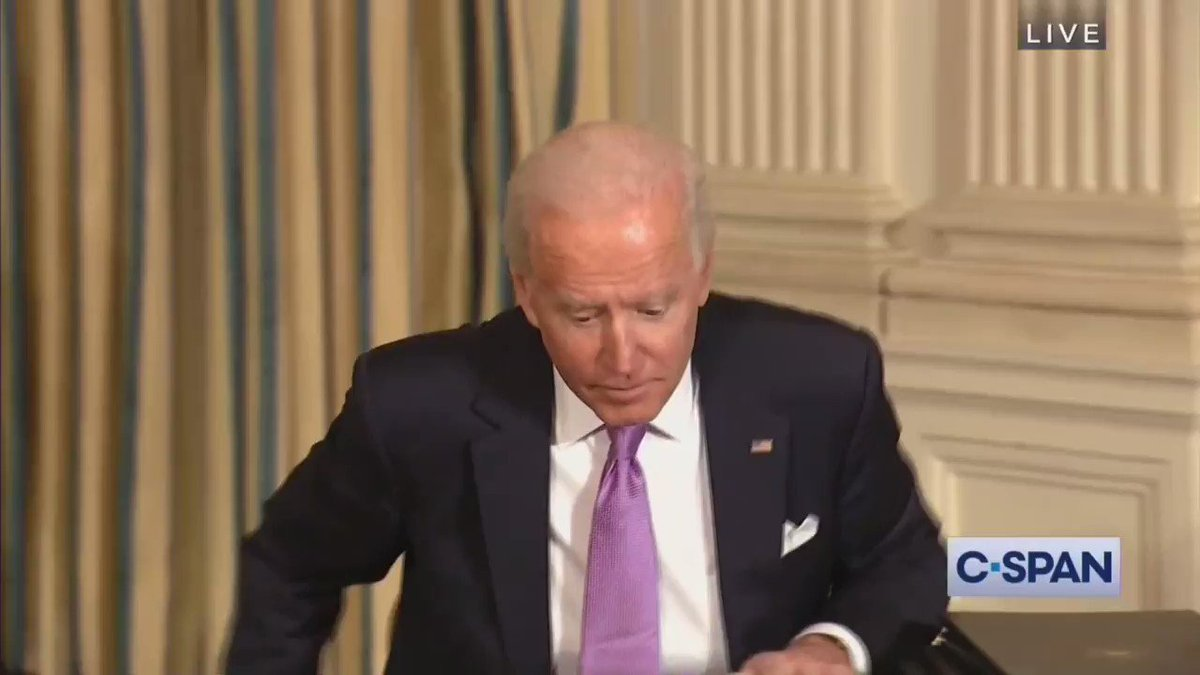 PETER DOOCY: Mr President, what did you talk to Vladimir Putin about?  PRESIDENT BIDEN: You. He sends his best.