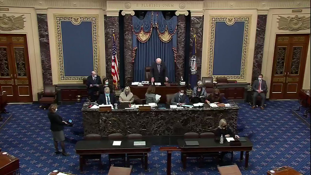 🚨BREAKING: U.S. Senators have officially been sworn in as jurors for the impeachment trial against former President Donald Trump. The trial will begin the week of February 8th.