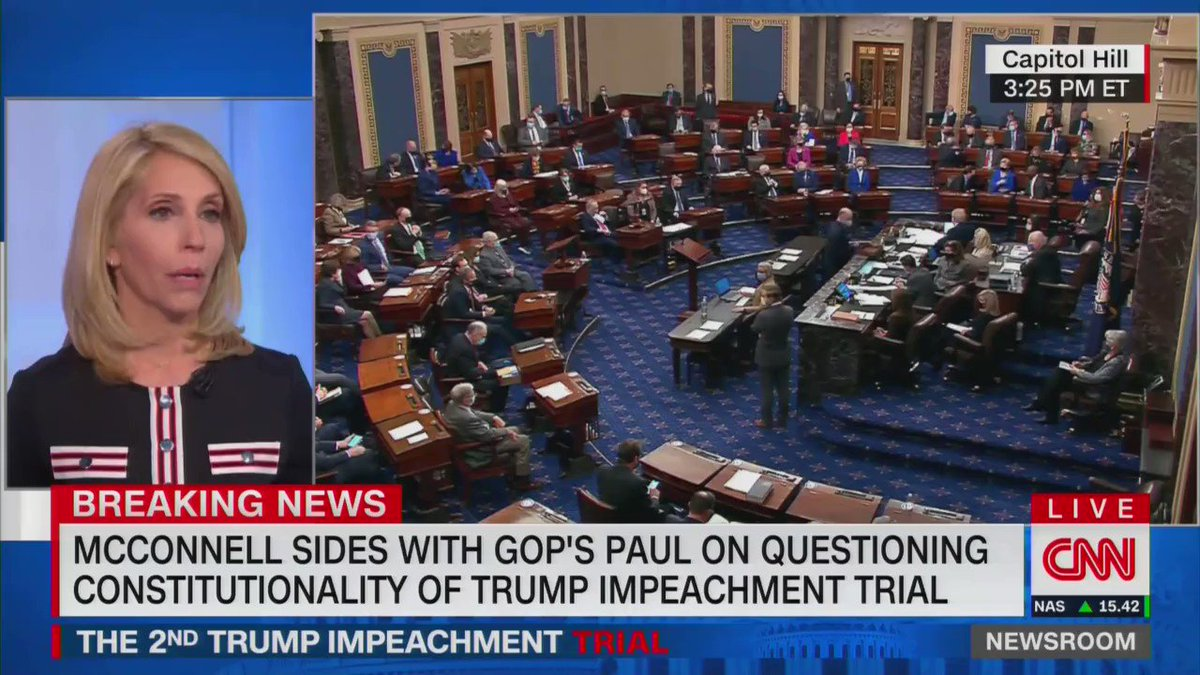"""Jake Tapper, after 45 GOP senators vote to dismiss the impeachment trial: """"Bill Clinton lied under oath and they thought that... he needed to be removed from office for lying under oath. Donald Trump incites a terrorist attack and they have a different standard."""""""