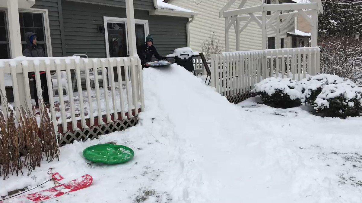 Backyard snow engineering. #snowday