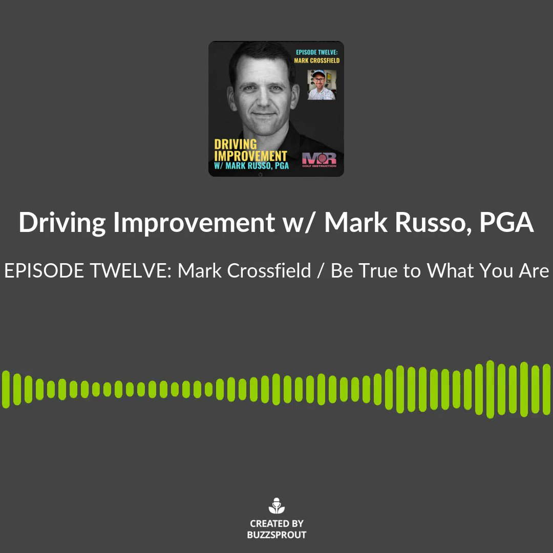 """On Episode 12 of the """"Driving Improvement"""" podcast, it's a fun and interesting journey w/ @4golfonline He explains his coaching background, golfer improvement, trappings of content creation, & much more. Link in bio. Thanks, Mark! #mrdrivingimprovement #golfers #golf #podcast 🤓"""