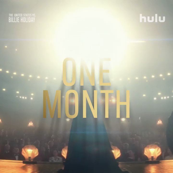 Replying to @USvsBillie: Hear her voice, hear her fight. #USvsBillieHoliday premieres on @Hulu in ONE MONTH.