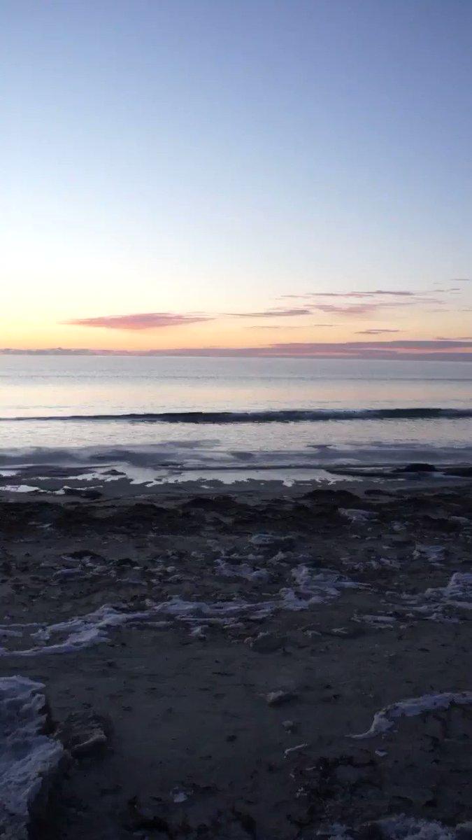 Daybreak 1/26/2021  #ocean #beach #atlantic #newengland #maine #newhampshire #massachusetts #dawn #sunrise #morning #oceansounds #naturesounds