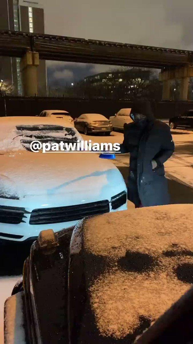 .@PatrickLW4's first Chicago winter 😂  (via @ZachLaVine's IG story)