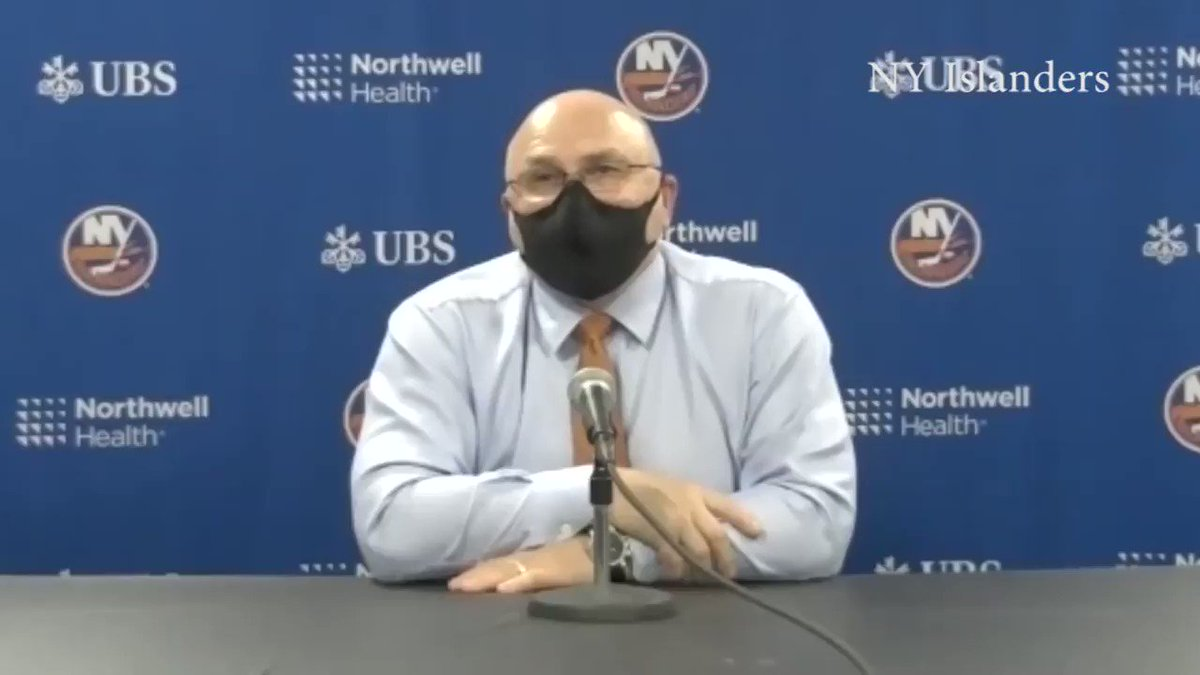 """#Isles coach Barry Trotz is not seeing the tough mentality he wants from his team and """"it's pissing me off.""""  @News12LI"""