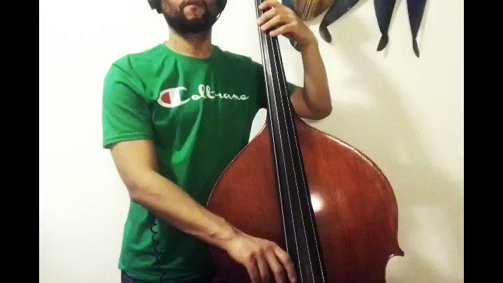 A #BassLine by @GodwinLouE!  @imjoelmross straight 🔥on the intro!  👕 by @funndamentalz from #TheCornerstore  #Day23 #100BassLines #Siwell #Global #Bass #BassPlayer #Bassist #AcousticBass #UprightBass #DoubleBass  #DoubleBassist #BaixoNatural #Jazz #CaribbeanNeoBop #BAM