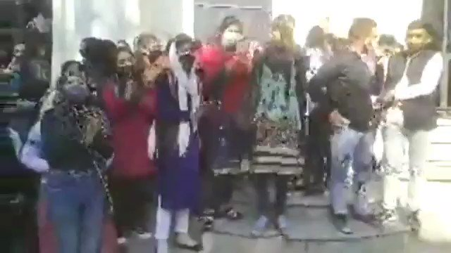 #LIVE: Students hold Protest at Govt. College for Women's parade demands Mass Promotion for Intermediate Students (Private).  #gcwparade #jammu #students #protests #demands #mass #promotion