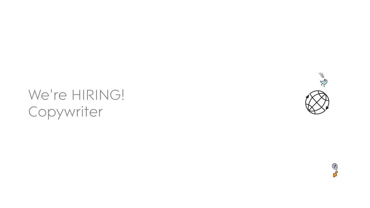 We're on the look-out for a super talented, energetic and exceptional copywriter. You'll be writing for social media, blogs, websites, email and creative campaigns that have a clear purpose and responsibility to convert. Apply here: https://t.co/6YXa7n8KdW #Jobs #CopyWriterJobs