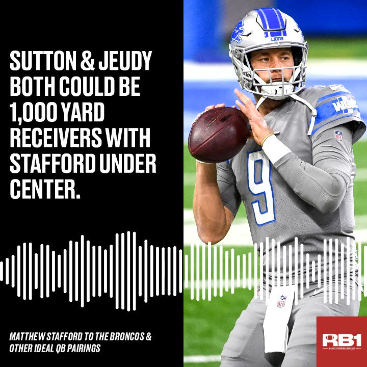 What is the best #fantasyfootball landing spot for Matthew Stafford?  🎙️ @RB1podcast