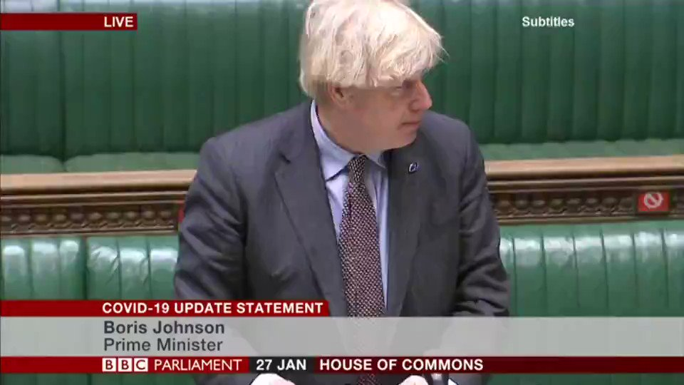 Government hopes to begin reopening schools from 8 March - if target to vaccine most vulnerable by mid-February is met   PM Boris Johnson says it's not possible to reopen England schools immediately after February half-term