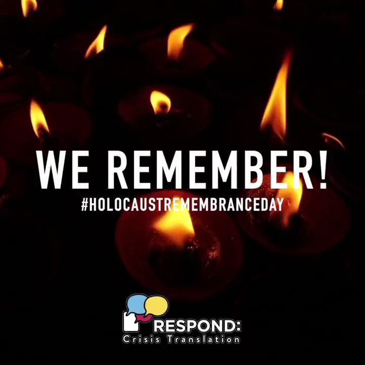We celebrate the survivors, some of whose descendants are now leaders and translators in @RespondCrisis Translation, fighting for a world without fascism and nationalism, a world where asylum seekers receive justice instead of criminalization, fighting for #NeverAgain to anyone.