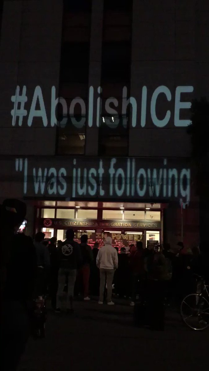 @AlexPadilla4CA @SenWarren Projected on ICE HQ in San Francisco. The rogue agency created modern concentration camps. Close them and #AbolishICE. #HolocaustRemembranceDay  #WeRemember #NeverAgain #NeverAgainIsNow