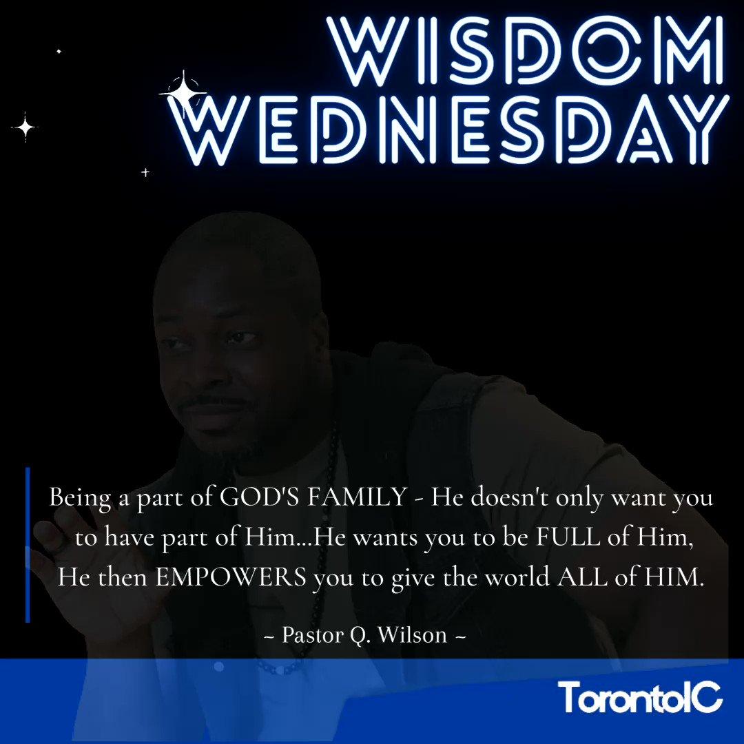 #WisdomWednesday  Best family to be a part of...  #Empowerment #godsfamily #childofgod #totalaccess #god #Jesus #love #UnconditionalLove #torontoic