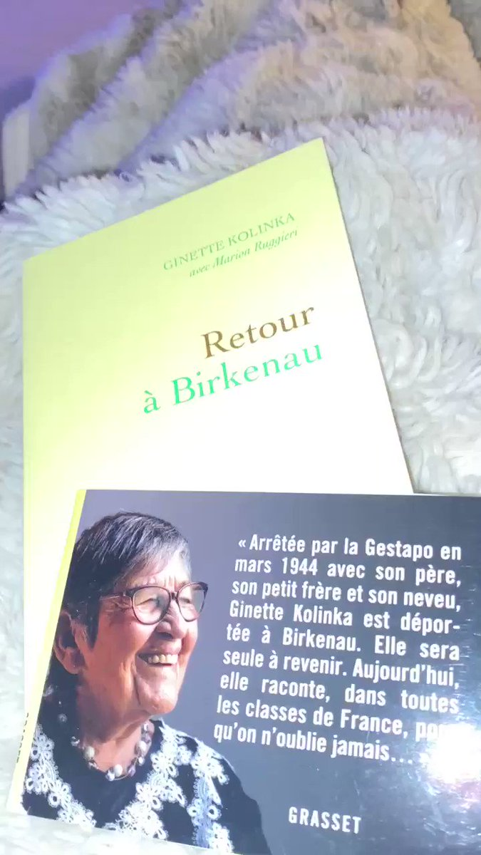 #HolocaustRemembranceDay wonderful book written by survivor Ginette Kolinka #NeverForget #Shoah #HolocaustMemorialDay
