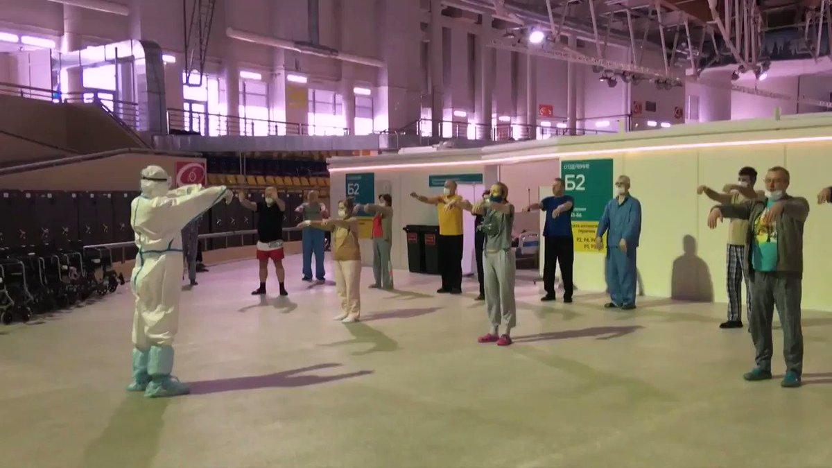 """مرضى #كورونا في #موسكو يستعينون بتمارين """"تاي تشي"""" الصينية القديمة لمواجهة الفيروس  #الميادين_Go"""
