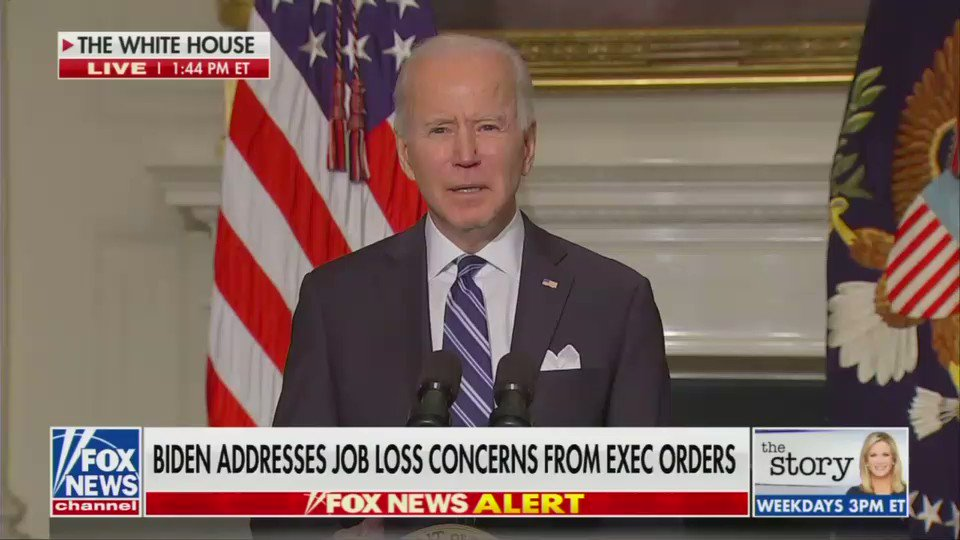 I'm gonna summarize this clip of Biden talking about workers in one sentence: We're going to create jobs because we're eliminating jobs.