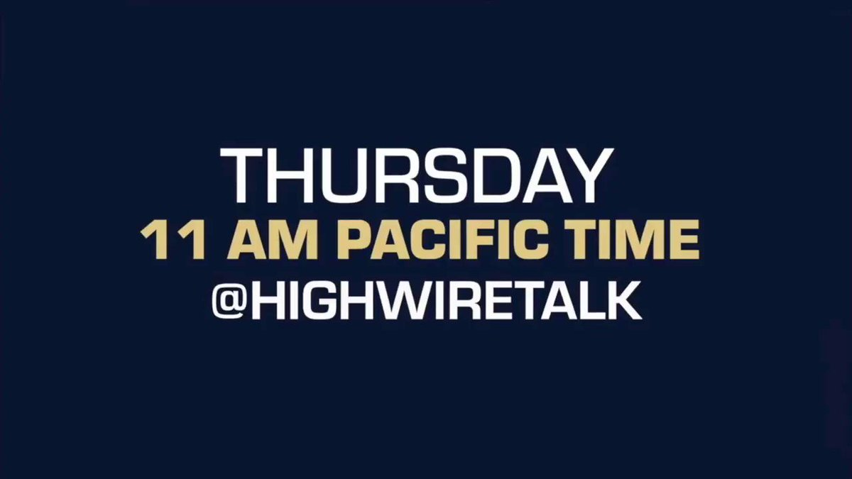 Image for the Tweet beginning: Don't miss The HighWire TOMORROW!