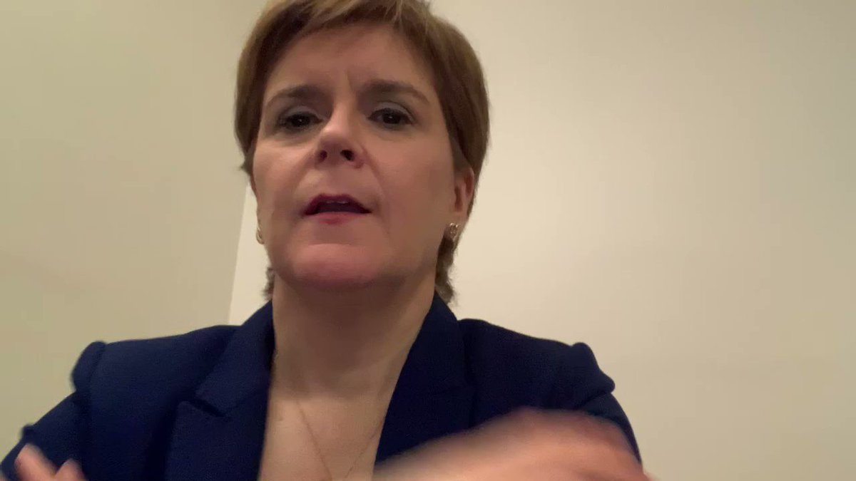 Nicola Sturgeon showing leadership and making clear transphobia has no place in Scottish politics.