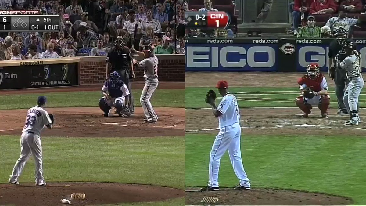 57 mph              vs                106 mph  And only one was a strike. 😬