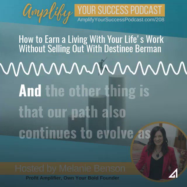 What mistakes to #entrepreneurs make when setting up a business around their life's work?  Listen in: How to Earn Money With Your Life's Work with Destinee Berman on Amplify Your Success #Podcast Episode 210