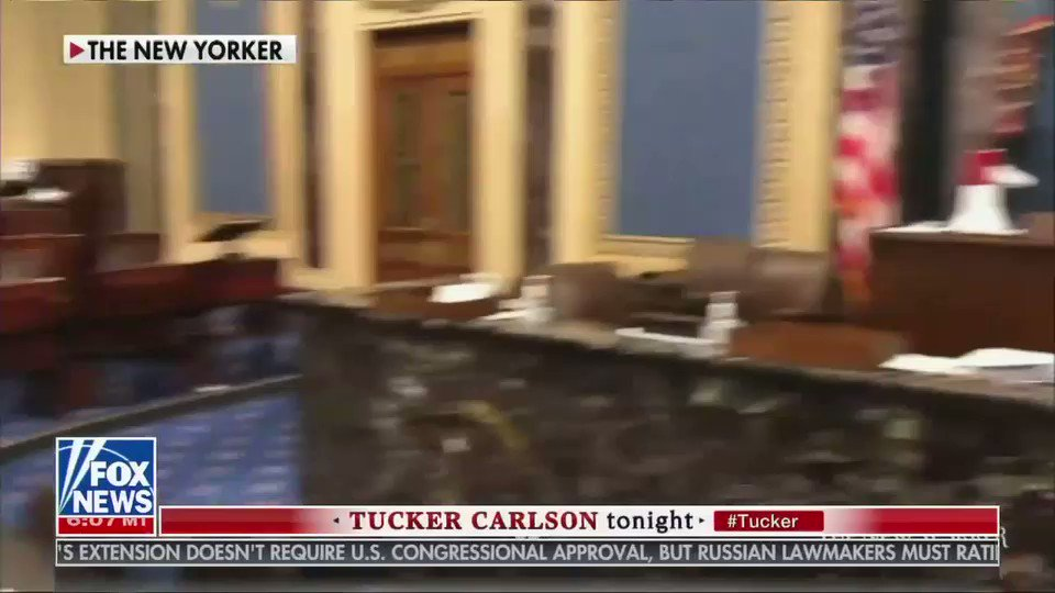 Making light of the capitol riots is a way for Tucker Carlson to defend them, which he's doing in this clip