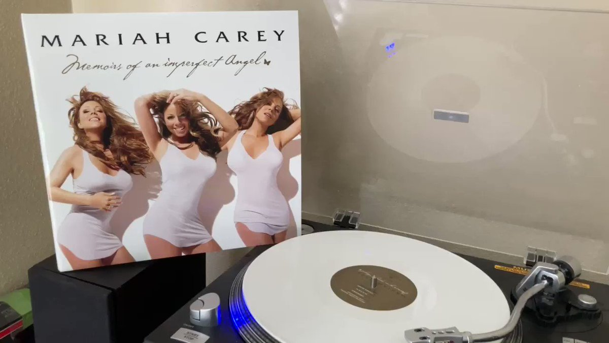 """I was like...why are you so obsessed with me?"" Limited edition white vinyl, MEMOIRS OF AN IMPERFECT ANGEL (2009) by @MariahCarey - a fan favorite #MC30 #lambily #lambilymoments #vinylcollection #vinylrecords #vinylcommunity"