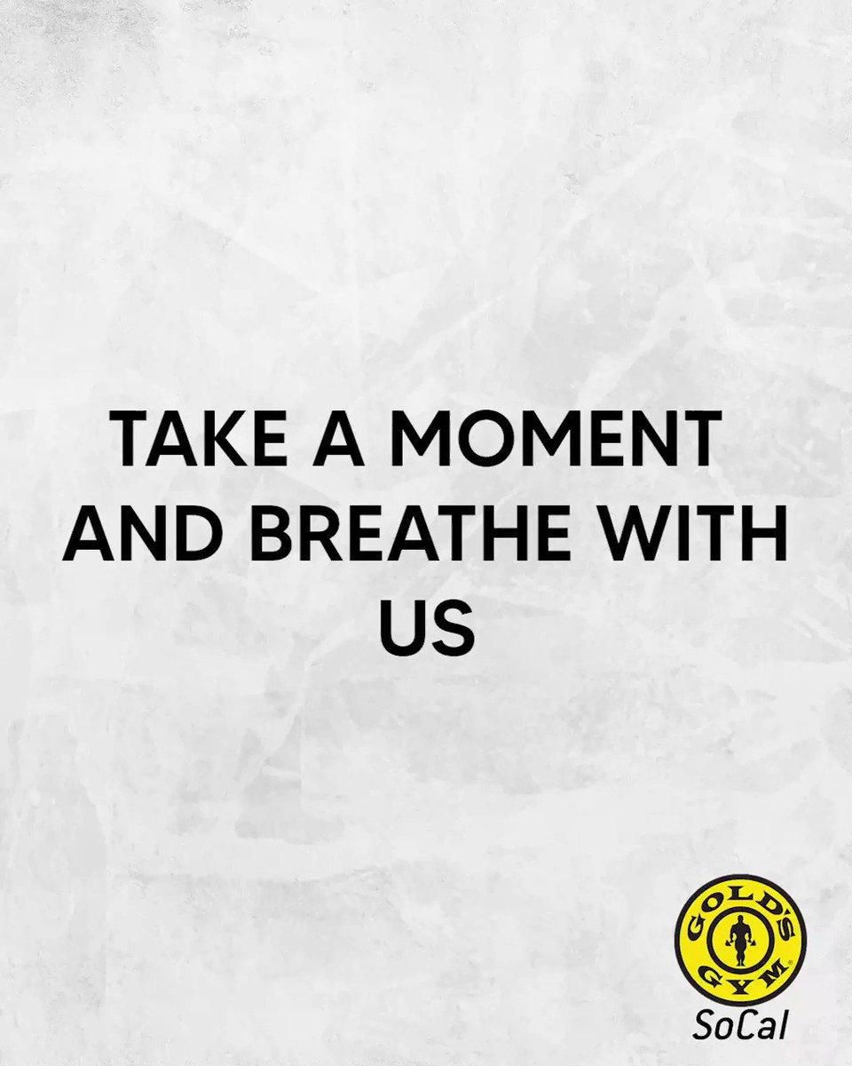 Just #breathe  #goldsgymsocal #meditation #focus #zen #relax #calm #breathingexercise #goldsgym #mindfulmoment #gym #calming #selflove #mentalhealth