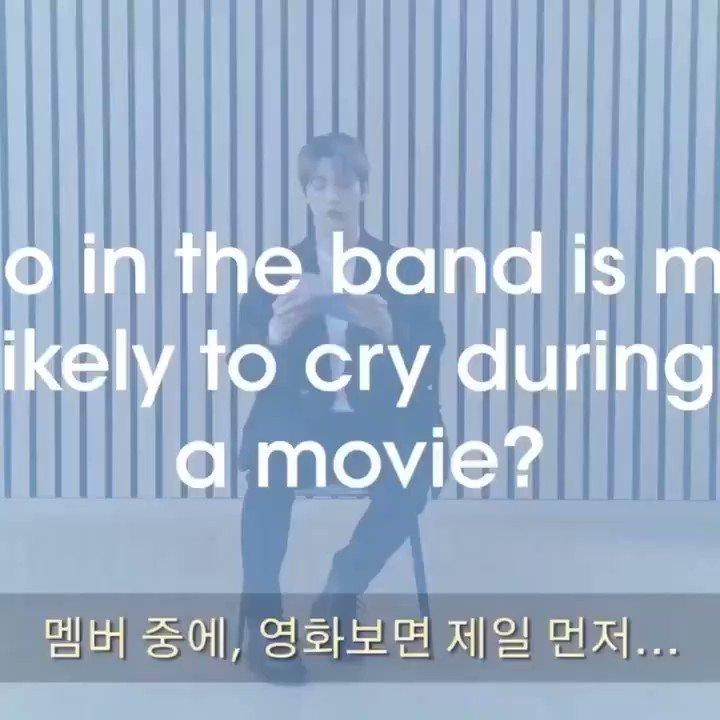 VIDEO 📽️ | Entrevista de #TXT con Teen Vogue:  #SOOBIN piensa que el primer miembro que llora es #HUENINGKAI.  🐰 Los miembros que lloran mientras ven películas... 🐰 Cuando la cámara estaba encendida, #YEONJUN y yo lloramos mucho. Normalmente, YEONJUN y yo no lloramos tanto.
