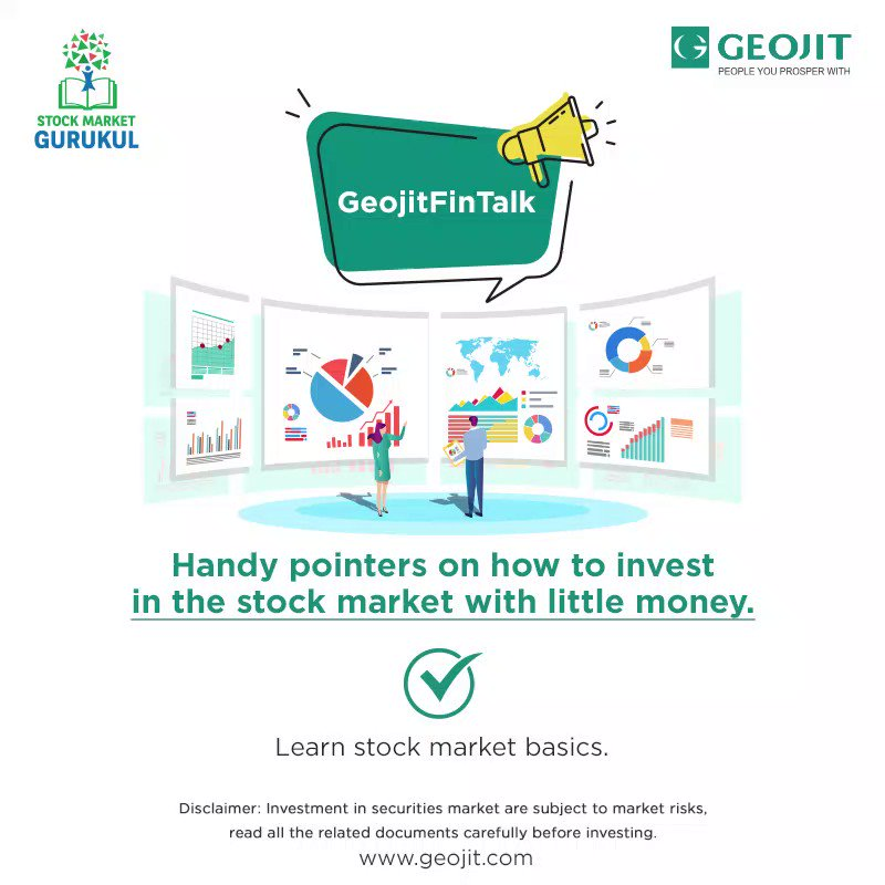 The stock market gives you an opportunity to create wealth in the long run. Start small, start today.  #GeojitFintalk #StartSmall #StartToday #Wealth #StockMarket