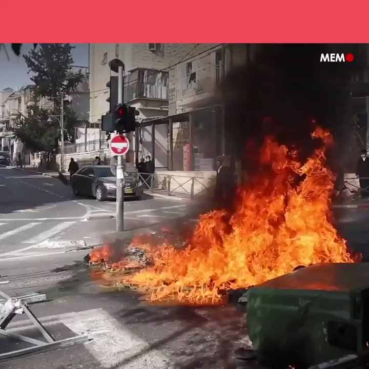 #VIDEO  Los judíos haredim se rebelan contra las medidas israelíes de lucha contra el #coronavirus.  #Jerusalén #Israel #Covid19