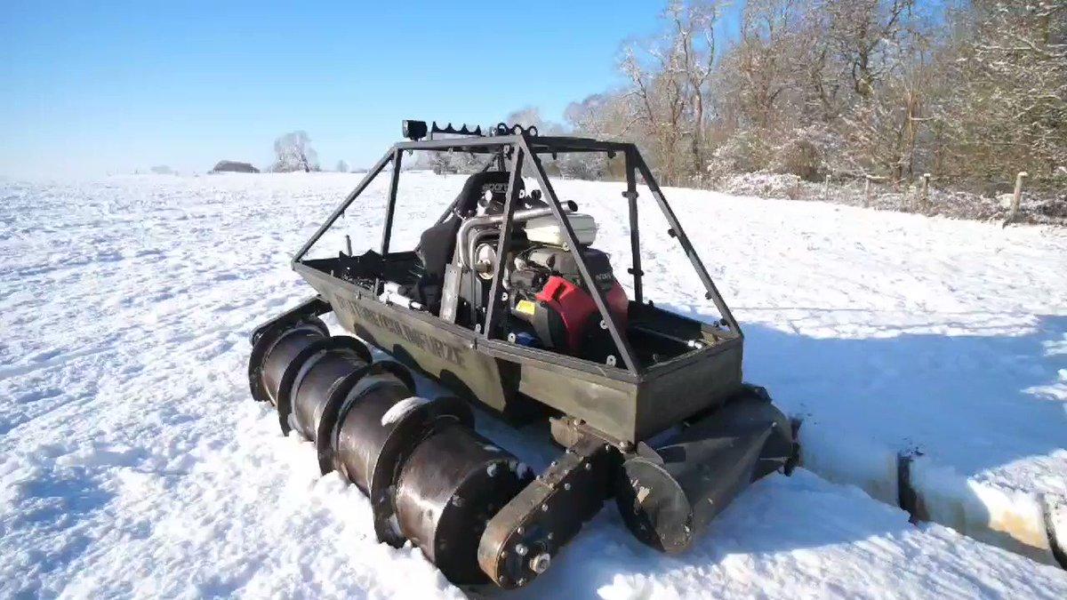 SCREW TANK SNOW ICE TEST VIDEO OUT NOW.  #colinfurze #screwtank #snow