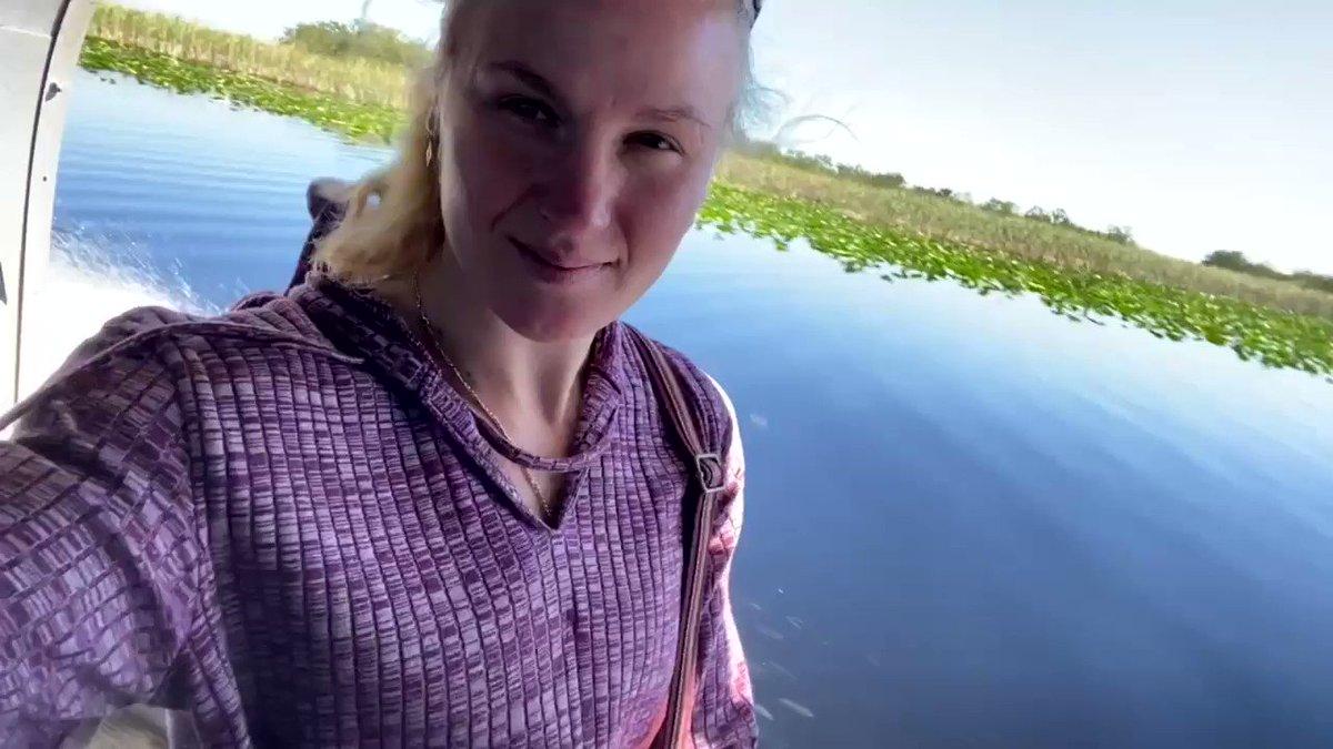 Air boat ride in New River Canal in Florida.  January 2021  Вся нижняя часть Флориды это сотни километров камышей и воды с крокодилами! https://t.co/yMrtUGvzKn