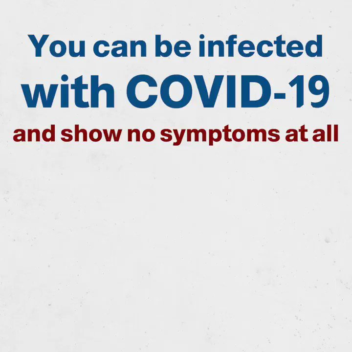 Not everyone without symptoms is #COVID19 free. Some people infected with the virus do not develop symptoms at all, but that does not mean you cannot contract it from them!  #TimeToAbide  @mophleb @MinistryInfoLB @DRM_Lebanon @UN_Lebanon @WHOLebanon @RedCrossLebanon