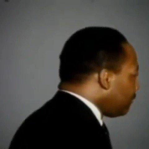 """Replying to @TheKingCenter: """"Yes, I'm Black.  I'm proud of it.  I'm Black and beautiful.""""  #MLK #BlackHistoryMonth"""